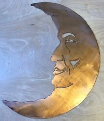 Man on the Moon Wall Metal Art with Rustic Copper Finish Hanging $29.95