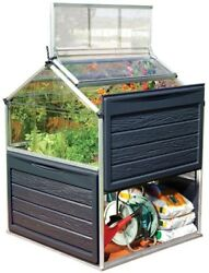 Portable Greenhouse Mini Plant Inn Elevated Garden Bed 4 FT x 4 FT Polycarbonate