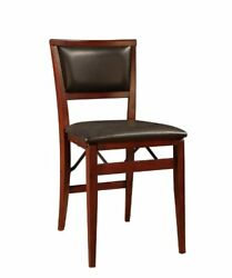 Linon Keira Pad Folding Chair Set of 2 Chairs Furniture Home Garden