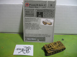 Axis & Allies Base Set Panzer II Ausf. C with card 31/48 $4.00