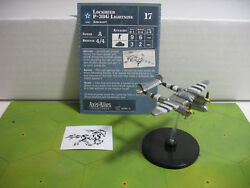 Axis & Allies D-Day Lockheed P-38G Lightning with card 20/45 $16.00