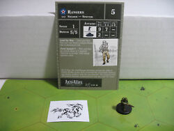 Axis & Allies Reserves Rangers with card 21/45 $3.50