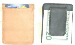 Improving Lifestyles Leather Mens Money Clip Wallet Black with FREE Organza Gi $9.99