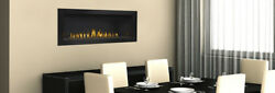 Continental CLHD45 - Linear Modern Direct Vent Gas Fireplace w Black Surround