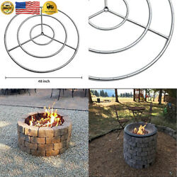 Onlyfire 48-inch Stainless Steel Round Fire Pit Burner Ring Triple Ring