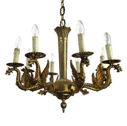 Gothic Ornate Brass 8 Arms Lights Chandelier Revival Dragons Empire Impressive