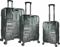 F150 Series- 3 Piece Textured  Polycarbonate Set with 360? 8-Wheel System  in