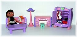 Cabbage Patch Kids Lil' Sprouts Dollhouse Furniture wDora the Explorer Clothes