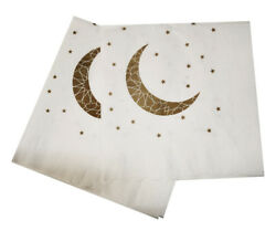 Ramadan and Eid Crescent Moon Party Napkins Pack of 20 $7.99