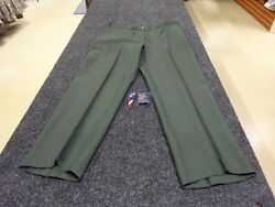Men's PolyWool Serge Army Green Trousers (USED)
