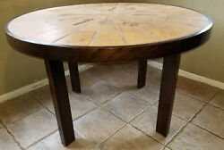 Roger Capron Hand Signed Ceramic Top Dining Table