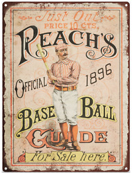 1896 Reach Baseball Guide Vintage Look Advertising Metal Sign 9 x 12  60041 $21.95