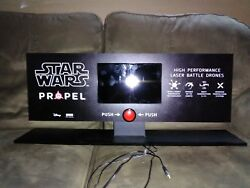 Rare STAR WARS Propel Drone Display with LCD advertising video $133.00