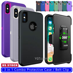 iPhone X Case With Belt Clip Holster Full-body Cover for Apple iPhone XS Max XR
