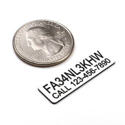 FAA DRONE REGISTRATION AND PHONE TAG STICKER ENGRAVED $6.99