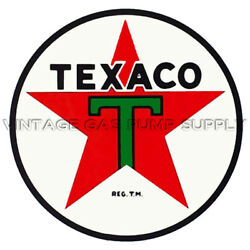 Texaco Star 12quot; Water Transfer Decal DW123 $23.50