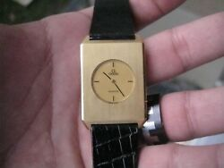 LIMITED EDITION VINTAGE OMEGA 18K GOLD DINOSAURE MENS WRISTWATCH MUSEUM