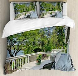Indoor Duvet Cover Set Twin Queen King Sizes with Pillow Shams Ambesonne