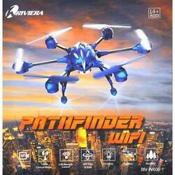 NIB RIVIERA RC Pathfinder Hexacopter WIFI Drone Blue $109.95