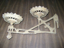 sconce double vintage cast iron lamp light wall mounted swing $35.00