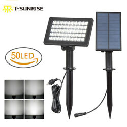 350 LED Bright Solar Spotlights Separate Panel Adjustable Outdoor Security Lamp