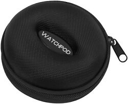 WATCHPOD Single Watch Travel Case & Watch Box Vault For Storage (Black Color)