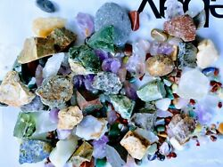 Tumbled Stones crystal 90+ natural mineral polished stone rocks mix sizes lot $7.59