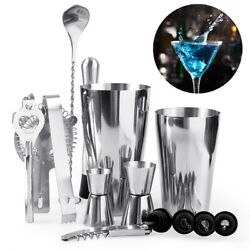 5pcs 14pc Cocktail Shaker Set Drink Bartender Bottle Opener Maker Mixer Bar Tool $15.99