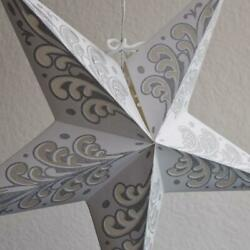 24quot; Silver Wave Glitter Paper Star Lantern Hanging $7.38