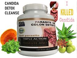 Potent Candida Cleanse Infection Treatment and Detox with Herbs Enzymes Yeast #1 $10.89