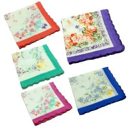 50pcs Wholesale Vintage Cotton Handkerchiefs Floral Women Kids Quadrate Hanky