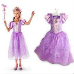 PRINCESS RAPUNZEL INSPIRED PURPLE PARTY DRESS US SELLER $19.49