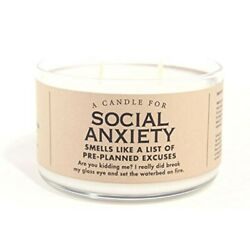 Social Anxiety Candle Fun Novelty Scent Scented Smell $28.43