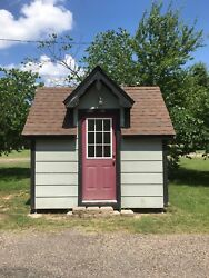 8x10 She Shed storage building playhouse