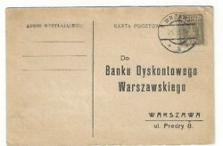 1929 Wrzawy Poland Commercial Post Card to Warsaw