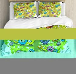 Funny Nursery Duvet Cover Set Twin Queen King Sizes with Pillow Shams