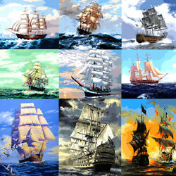 Ship Scenery DIY Paint Oil Painting By Number Kit On Canvas Home Decor Unframed