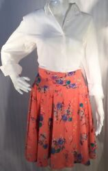 Beautiful Floral gathered skirt design by Angelica size medium $17.00