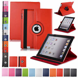 360 Rotating Leather Folio Case Cover Stand for iPad 234 Mini Air 9.7 10.2 10.5 $9.45