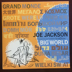 Joe Jackson BIG WORLD   Vinyl is VG+ (see pictures)  Cover VG+ A