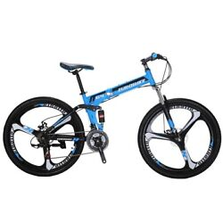 Mountain bike Foldable Frame 26quot; 21 Speed Folding Bicycle Full Suspension MTB $319.00