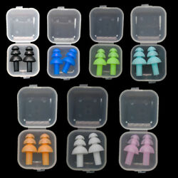 US STOCK Silicone Ear Plugs Ear Muffs Anti Noise Snore Diving Swimming Earplugs