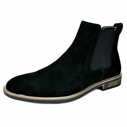 BRUNO MARC Mens Flat Suede Leather Chelsea Chukka Dress Ankle Boots Casual Shoes $35.87