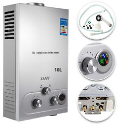 10L 2.7GPM Hot Water Heater Natural Gas Instant Tankless Boiler w Shower $86.78