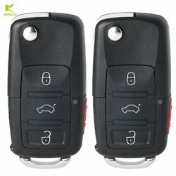 2XReplacement Folding Remote Key 3+1 Button 315MHz for Volkswagen 1K0 959 753 P $19.02