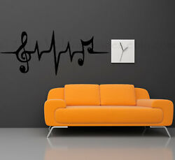 MUSIC NOTE HEARTBEAT Quote Vinyl Wall Decal Words DIY Decor Sticker 36quot; $15.95