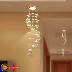 New 3W LED Crystal Ceiling Light Small Chandelier Lamp Pendant Fixture Hallway $21.09