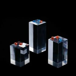 3 4 5cm Clear Acrylic Cuboid Cube Display Stand Holder for Home Jewelry Shop US