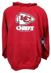 Kansas City Chiefs Red Majestic NFL Pullover Hoodie Mens Size Big and Tall nwt