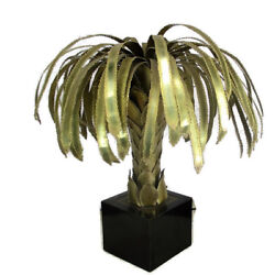 Palm Tree Desk Lamp Tree Table Lamp Maison Jansen 2 Lights  HTF Collector 1950s